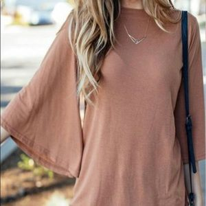 Reflection Boatneck Flutter Sleeve Top